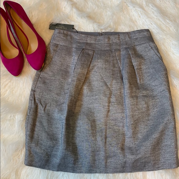 Talbots Dresses & Skirts - NWT Talbots size 6P metallic silver skirt - 1C